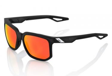 lunettes 100 centric noir verres rouge iridium