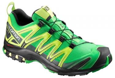 chaussures trail salomon xa pro 3d gtx vert jaune noir 44