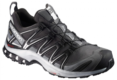 chaussures trail salomon xa pro 3d gtx noir gris 44