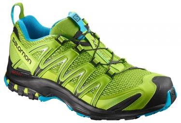 chaussures trail salomon xa pro 3d vert bleu 40 2 3