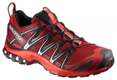 chaussures trail salomon xa pro 3d rouge noir 44