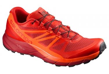 chaussures trail salomon sense ride rouge orange 44