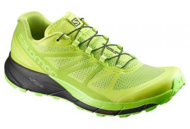 chaussures trail salomon sense ride vert noir 42