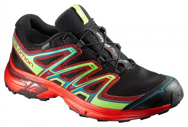Chaussures trail salomon wings flyte 2 gtx noir rouge vert 44 2 3