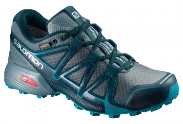 Chaussures trail salomon speedcross vario 2 gtx femme gris bleu 40