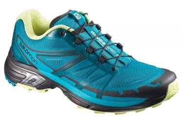 Chaussures trail salomon wings pro 2 femme bleu noir 38