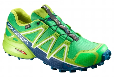salomon speedcross 4 gtx vert bleu 44 2 3