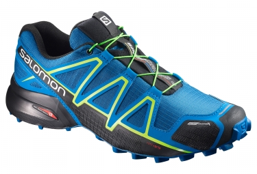 salomon speedcross 4 bleu noir vert 46 2 3