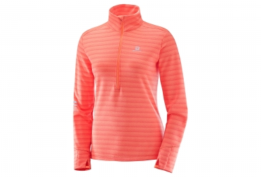 Polaire femme salomon lightning hz mid rose orange s