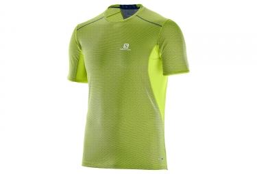 T shirt salomon trail runner vert jaune s