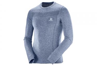 T shirt manches longues salomon park seamless gris xl