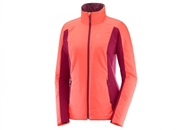 veste reversible femme salomon drifter mid orange violet l