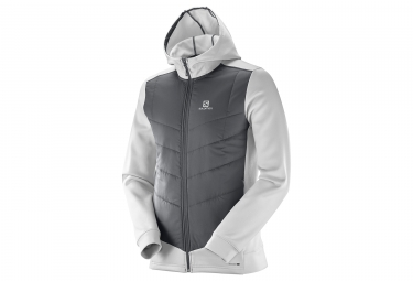 Salomon Pulse Hybrid Jacket Grey White