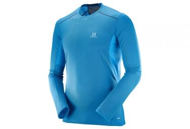Camiseta de manga larga Salomon Trail Runner azul