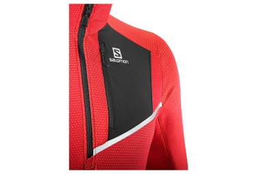 Maillot Manches Longues Salomon Fast Wing Mid Rouge Noir