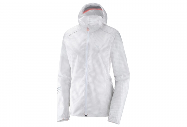 veste coupe vent femme salomon lightning wind graph blanc m