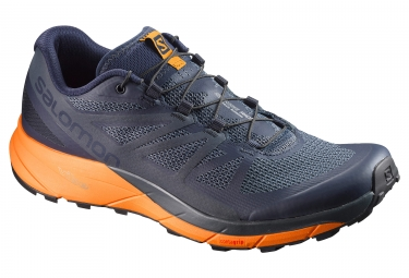 salomon sense ride bleu orange 42 2 3
