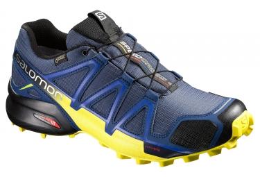 Chaussures de trail salomon speedcross 4 gtx bleu jaune 43 1 3