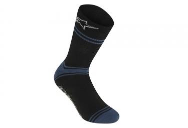 alpinestars chaussettes summer noir bleu s m