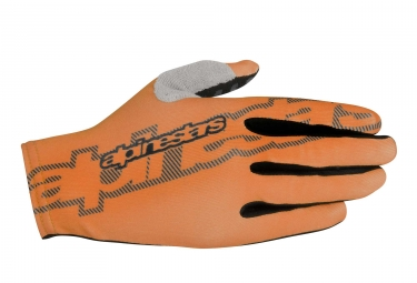 gants alpinestars f lite orange noir m