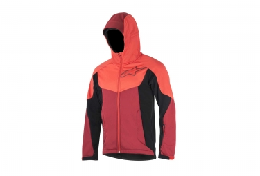 veste coupe vent alpinestars milestone 2 rouge orange noir l