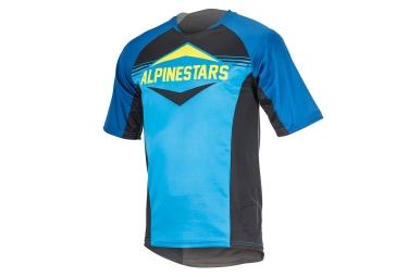 maillot manches courtes alpinestars mesa bleu noir xxl