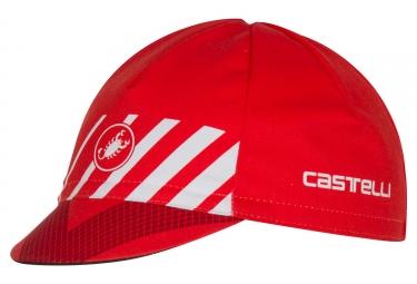 casquette castelli velocissimo rouge
