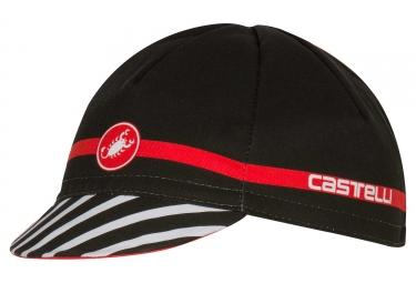 casquette castelli free noir rouge