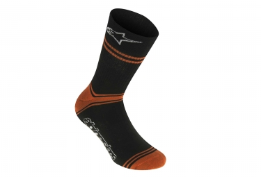 alpinestars chaussettes summer noir orange l xl