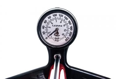 Pompe à Pied Lezyne Steel Floor Drive ABS-1 Pro Rouge