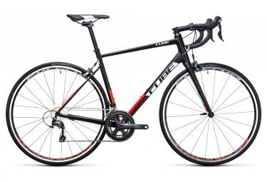 Vélo de Route Cube Attain Race Shimano Tiagra 10V 2017 Noir / Rouge