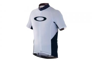 maillot manches courtes oakley jawbreaker blanc noir xl