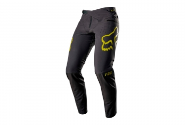 pantalon fox flexair noir jaune 36