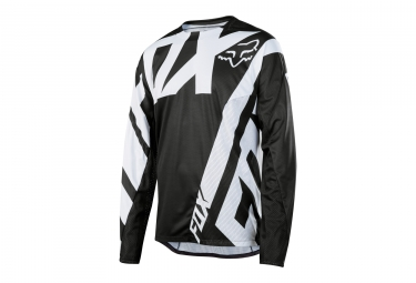 maillot manches longues fox demo noir blanc s