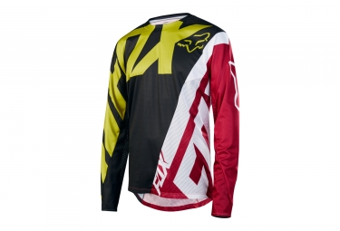 maillot manches longues fox demo jaune rouge s