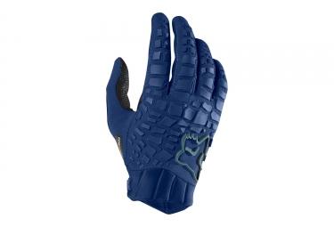 gants longs fox sidewinder bleu s