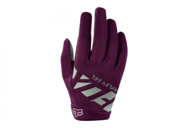Gants longs femme fox ripley gel violet l