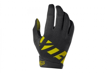 gants longs fox ranger noir jaune xl