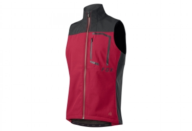 veste sans manches fox attack fire rouge l