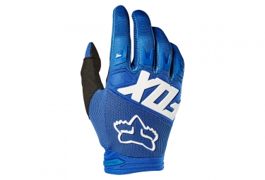 Gants longs fox dirtpaw race bleu m