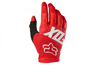 Gants longs fox dirtpaw race rouge m