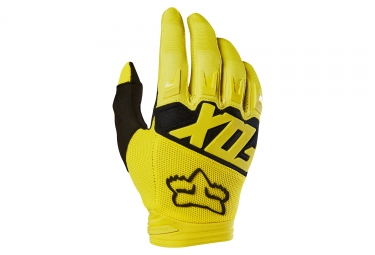 Fox Dirtpaw Race Long Gloves Yellow