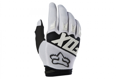 Gants longs fox dirtpaw race blanc xl
