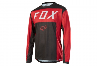 maillot manches longues fox indicator moth rouge noir l