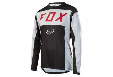 maillot manches longues fox indicator moth gris noir s
