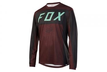 maillot manches longues fox indicator moth bordeaux noir m