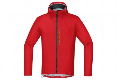 veste gore bike wear power trail gtx active rouge m