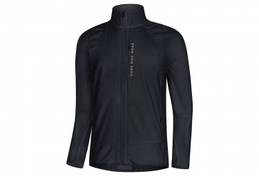 veste gore bike wear power trail windstopper noir m