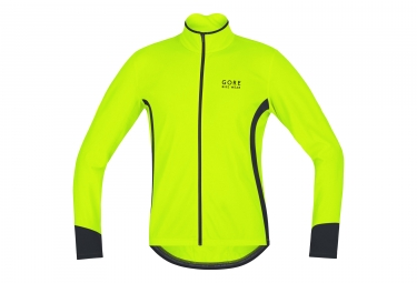 veste gore bike wear power thermo jaune fluo s