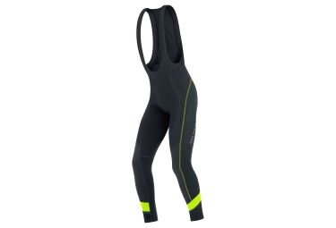 cuissard long gore bike wear power thermo noir jaune fluo xl
